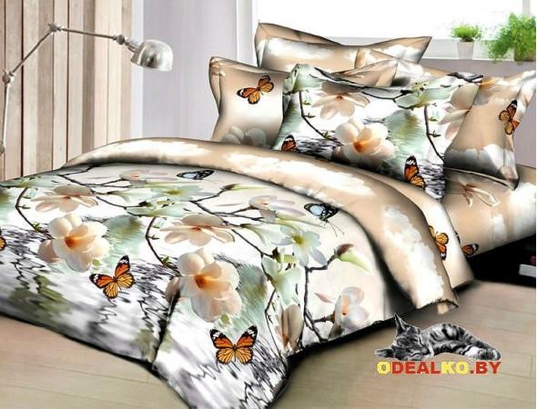 Постельное белье из поплина Бабочки
