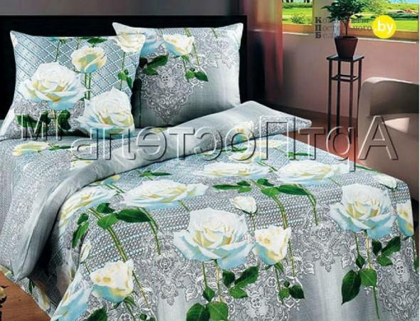 Постельное белье из бязи Белые розы Дуэт