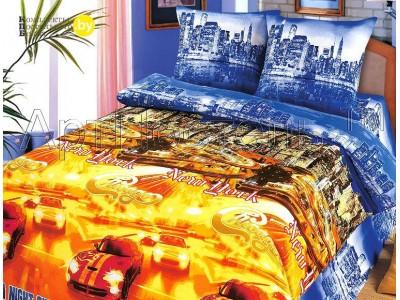 Полуторное постельное белье Ночной город