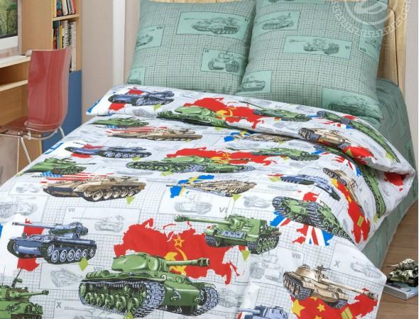 Детское постельное белье Танки Подростковый
