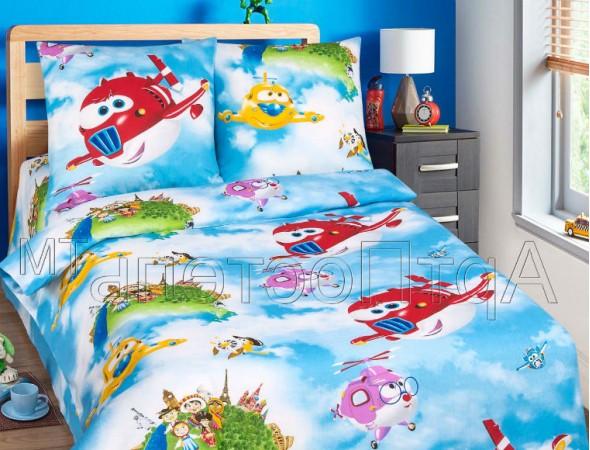 Детское постельное белье Воздушный патруль Подростковый