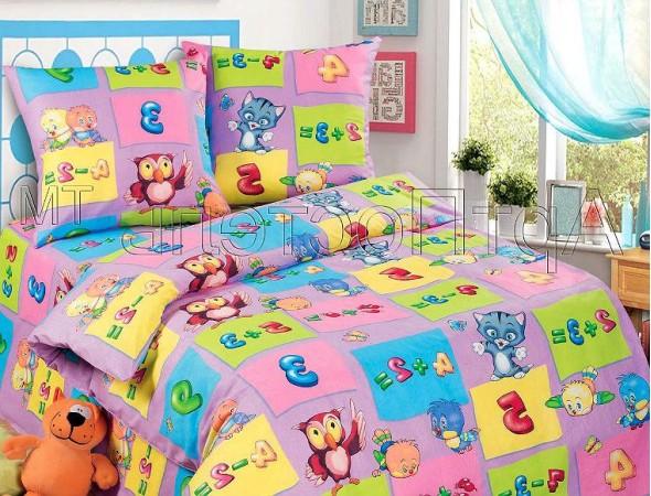 Детское постельное белье Забавный счет фиол. Подростковый