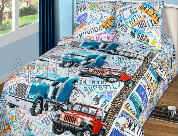 Детское постельное белье Автобан