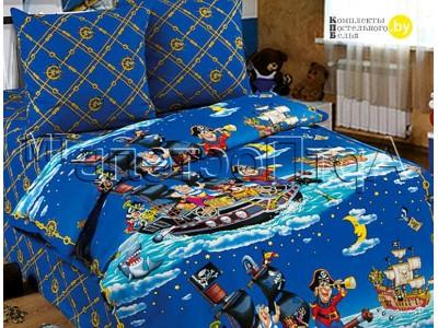 Полуторное постельное белье Пираты