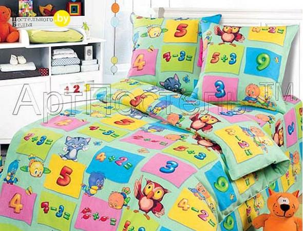 Детское постельное белье Забавный счет зел. Подростковый