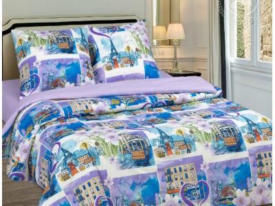 Полуторное постельное белье Город любви
