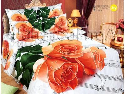 Полуторное постельное белье Мелодия любви