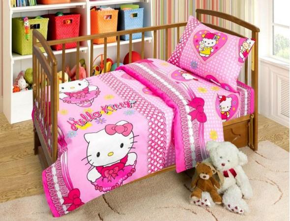 Постельное белье в кроватку Бантики