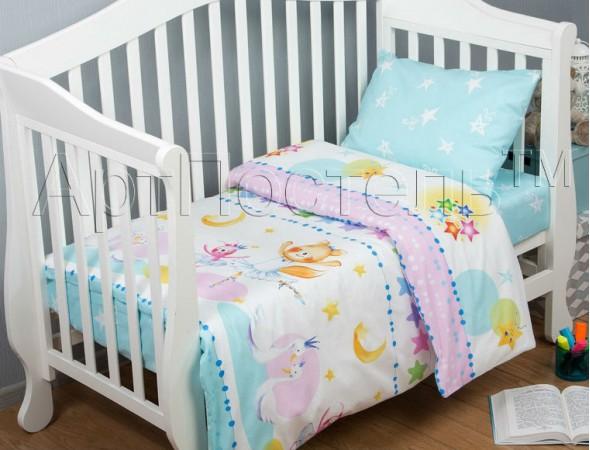 Постельное белье в кроватку Акварельки