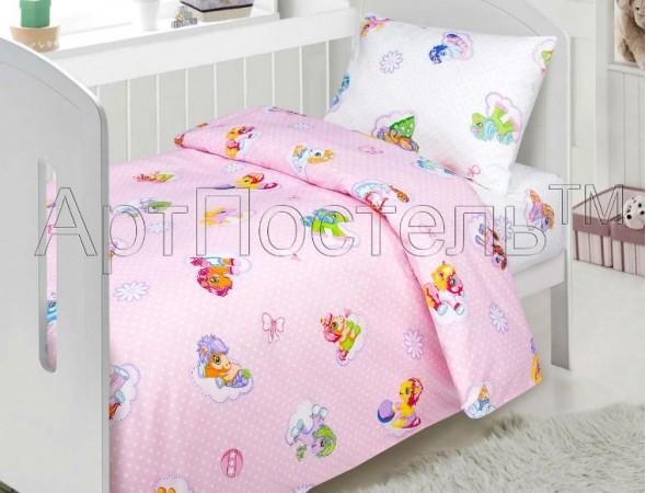 Постельное белье в кроватку Бусинка роз. В Кроватку (147*112)